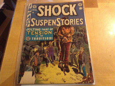 Shock Suspenstories #5 *controversial Hanging Cover* Wally Wood Ec 1952