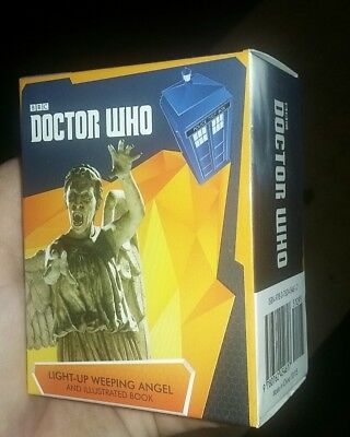 NIB Doctor Who: Light-Up Weeping Angel and Illustrated Book