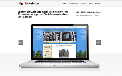 Webseite + Hosting und Domain *Start up Paket*
