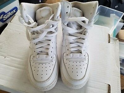 Nike Air Force 1 High GS White 653998-100 Size 6.5Y High Top Shoes NICE Conditio