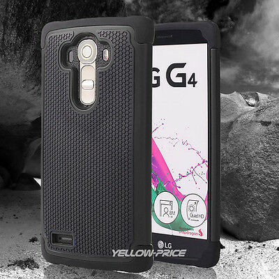 Shockproof Armor Impact Rugged Hybrid Case Dual Cover for LG G4 + Screen Films