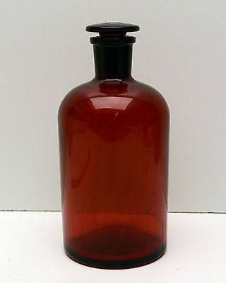 Pyrex Bottle Ruby Red Apothecary 29 Trademark Excellent Condition