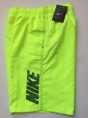 NIKE Boy's Large Bathing Suit Swimsuit Neon Yellow NWT
