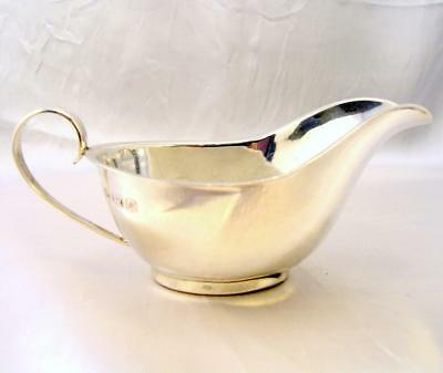 Solid Silver SAUCE BOAT Barker Brothers 65gms