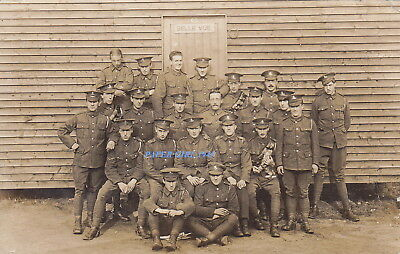 WW1 Royal Field Artillery Territorials Real Photographic Postcard.