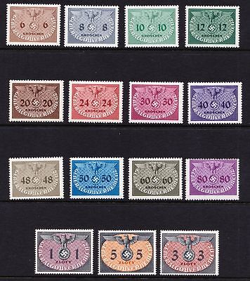 Poland 1940 General Government Official Stamps - Mint Light Hinge  - (129)