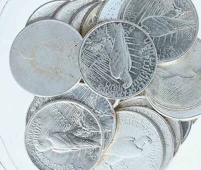 Silver Peace Dollar Lot of 20 NO RESERVE