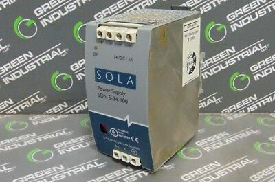 USED SOLA SDN 5-24-100 Power Supply Module 24VDC 5A