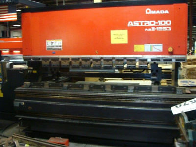 "138 Ton Amada ""fbd-1253Mh"" Cnc Up-Acting Hydraulic Press Brake - #28323"