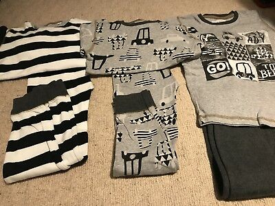 Next Boys 3 Pairs Of Snuggle Pyjamas Age 5-6 Years