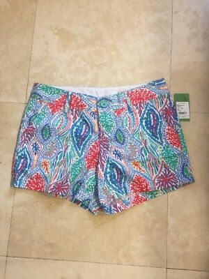 Lilly Pulitzer Multi Color Let Minnow Callahan Shorts, Sz 8 - NWT