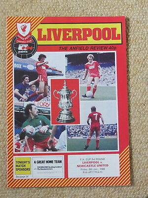 Liverpool v Newcastle Utd  FA Cup 3rd Round  6/01/84