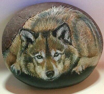 Wolf Art Rock Original by Patty wolford Artrox