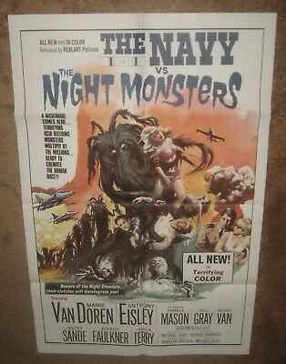 NAVY VS THE NIGHT MONSTERS '66  Great  monster graphics!