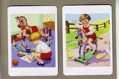 Child & Rocking Horse Swap/playing Cards