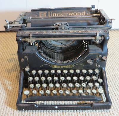1920's Vintage Underwood Typewriter Parts Move Needs Restoring Or For Parts Sold