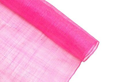 Stiffened Sinamay Millinery Fabric - Hot Pink - 1 Meter x 90cm