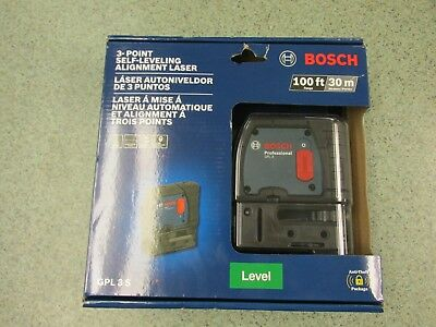 BOSCH (GPL 3 S) 3-Point Self-Leveling Alignment Laser / 100ft - 30m