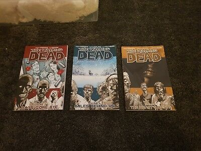 walking dead comic volume 1, 2 and 4