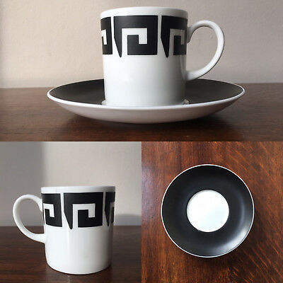 Vintage Susie Cooper Black Keystone Coffee Can and Saucer 1960's