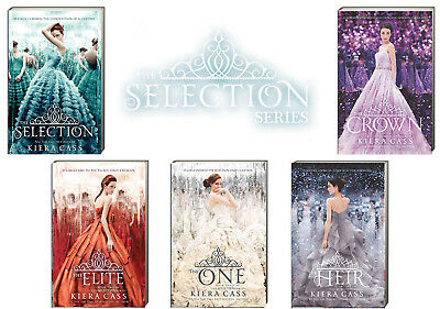 THE SELECTION SERIES 1-5 Selection,Elite,One,Heir,Crown (pb) by Kiera Cass NEW