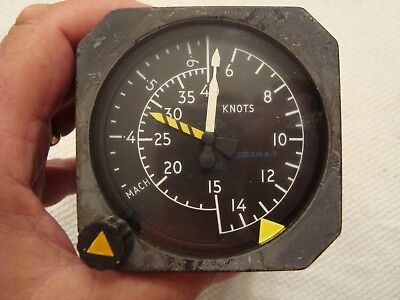 Smiths Mach Speed Indicator Pw/201 Ama/5 For Use In Jet Aircraft