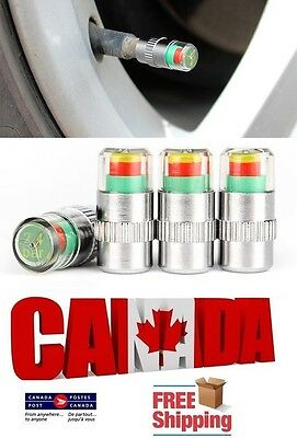 4PCS Car Auto Tire Pressure Monitor Valve Caps Stem Sensor Indicator Alert