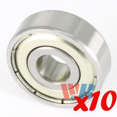Set of 10 4mm x 16mm x 5mm Miniature Ball Bearing WJB 634-ZZ w/ 2 Metal Shields
