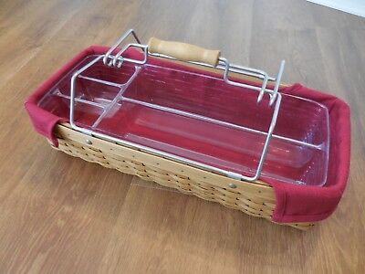 LONGABERGER  2004 Household Tool Caddy COMBO Liner & divided protector Excellent