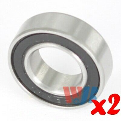 2pc Miniature Ball Bearing 7x14x5mm WJB 687-2RS with 2 Rubber Seals