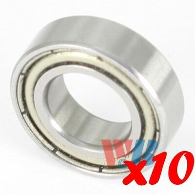 Set of 10 7mm x 14mm x 5mm Miniature Ball Bearing WJB 687-ZZ w/ 2 Metal Shields
