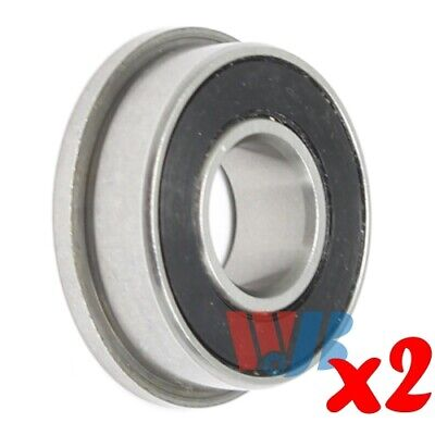 2pc Miniature Ball Flanged Bearing 7x14x5mm WJB F687-2RS with 2 Rubber Seals