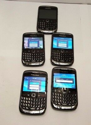 LOT of 5 Blackberry Curve 9360 AT&T Smartphone Black Unknown IMEI For Parts