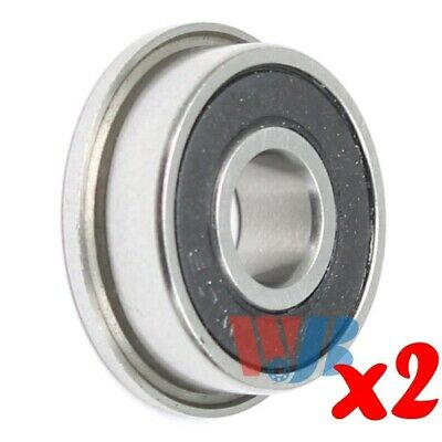 2pc Miniature Ball Flanged Bearing 5x13x4mm WJB F695-2RS with 2 Rubber Seals