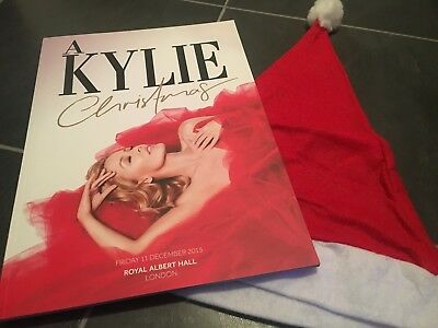 Kylie Minogue - A Kylie Christmas 2015 Concert Programme & Santa Hat From Show