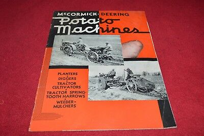 International Harvester Mccormick Deering Potato Machines Dealer Brochure YABE14