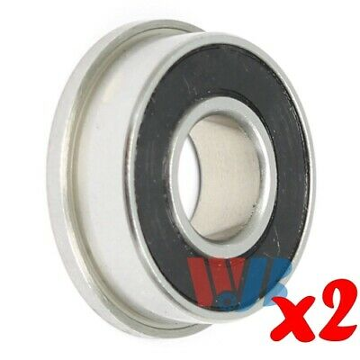 2pc Stainless Steel Miniature Ball Bearing WJB SFR3-2RS Flanged
