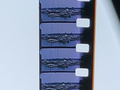 Vintage 50s Put In Bay Ohio Kodachrome 8mm Film Reel Movie Boats Old Cars Aerial