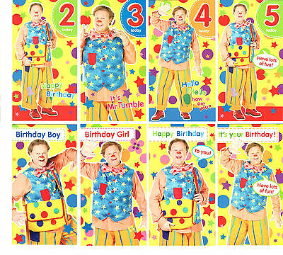 NEW! Official SOMETHING SPECIAL MR TUMBLE Birthday Cards 3rd 4th 5th General