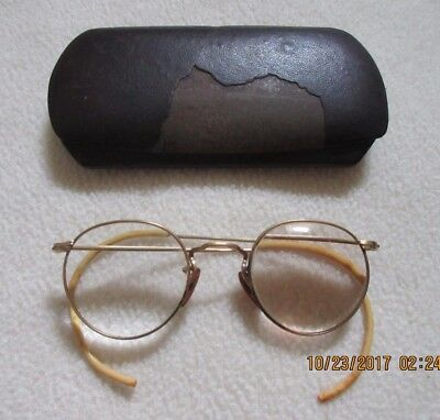 antique gold filled spectacles with case haustetter new york