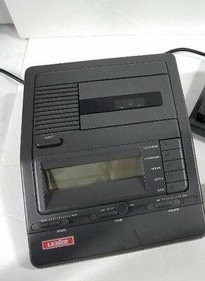 Lanier VW-260 Voice Writer Micro-Cassette Microphone Tested Grey Dictation Pedal