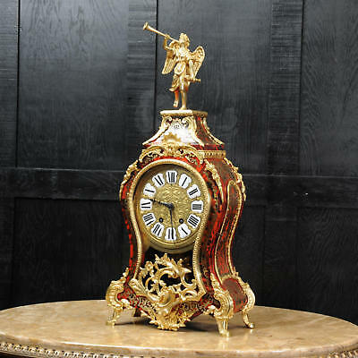 Boulle Mounted With Ormolu Bracket Clock ~ Goddess Pheme ~ Superb C1880