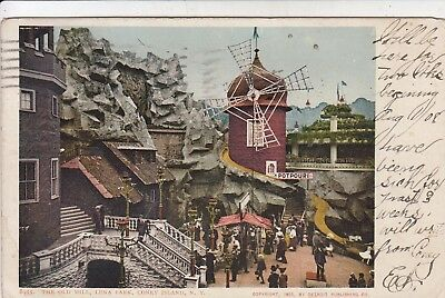 The Old Mill at LUNA PARK Coney Island Brooklyn NYC  Detroit postcard 1905
