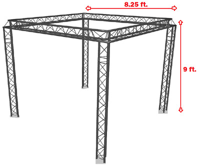 Trade Show Booth, Trusses DJ Stage 9' X 8.25' Metal Truss Triangle Trusses DJ