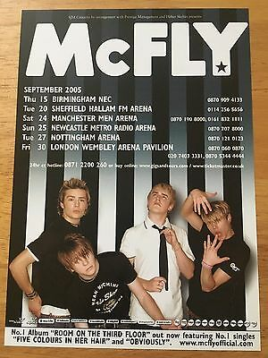 McFLY - 1 x 2005 UK Tour Flyer (SIZE A5)