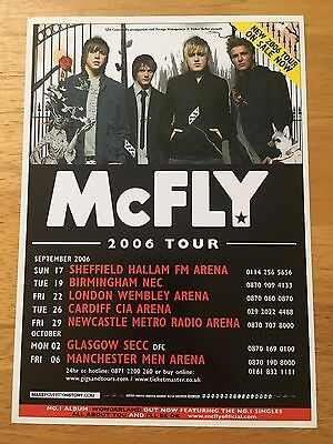 McFLY - 1 x 2006 UK TOUR FLYER (SIZE A5)