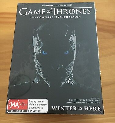 Game Of Thrones Season 7 DVD - NEW AND SEALED - Genuine Aussie Release