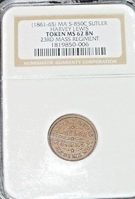 SUTLER  MASS..HARVEY LEWIS..NGC MS62..R6..LISTED AT 1000.00 IN 2nd SCHENKMAN