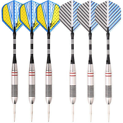 2 sets of Steel Tip Darts Stainless Barrel with Aluminium Dart shafts Flights