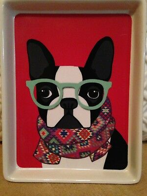 Boston terrier tray - use as appetizer dish - Plate Or for display HTF UNIQUE!